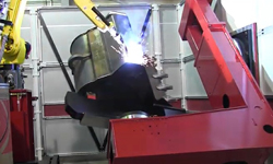 Custom Robotic Welding Cell for Construction & Mining Equipment